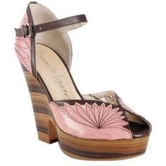 Nanette Lepore Pink & Chocolate 'Flirty Flower' Wedges | Shop fashion, accessories| Kaboodle