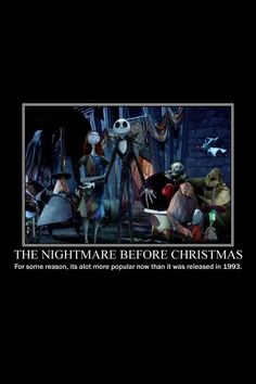 The Nightmare Before Christmas. Tim Burton.