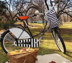 Mark Hotel, NYC: bespoke fleet of Republic Bikes with signature stripes on basket, bike, and helmet.