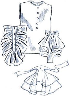 Vestee with 3 Jabots Vintage Sewing Pattern for download