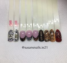 Nail art - animal print designs overview