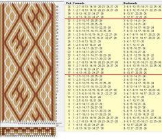 28 tarjetas, 3 colores, repite cada 16 movimientos // sed_945 diseñado en GTT༺❁