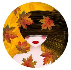 Yellow/Autumn leaves - piperitadesign