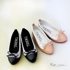 BJD娃娃鞋子 甜美 淑女 蝴蝶结圆头单鞋 (1/4MSD 1/3SD尺寸~~)
