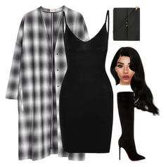 """""""no sense - jb"""" by demirese ❤ liked on Polyvore featuring H&M, Commando, Christian Louboutin and Marni"""