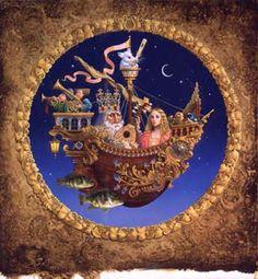 James Christensen Art royal music barque