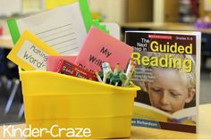 guided reading supplies for a kindergarten classroom