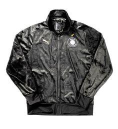 BAPE X Puma Black Camo T-7 A Bathing Ape Camouflage Men's Jacket in Black