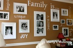 Marty's Musings: How to Make a Gallery Wall with vinyl words (using the Cricut)