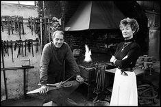 14-06-1993 – Breda Ginnekenweg 242. Dhr. en mevr. van Ierssel in hun smederij.