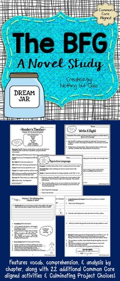 This HUGE, 112-page literature unit for The BFG by Roald Dahl includes chapter-by-chapter analyses, 22 additional Common Core aligned activities, Culminating Project Choices, and answer keys. Open-ended questions and graphic organizers are easily adaptable to every type of learner. Purchase today, and use a classic book to teach tricky Common Core standards!
