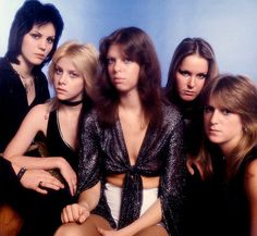 The Runaways -  (Joan Jett, Cherie Currie, Jackie Fox, Lita Ford, Sandy West)…