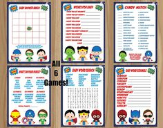 Superhero Baby Shower Games Superhero Baby by GraphicsByColton