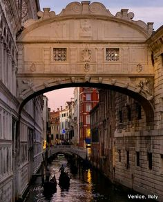 Did you know that Venetian legend says if you kiss on a gondola at sunset under the Bridge of Sighs you will get eternal love and bliss?