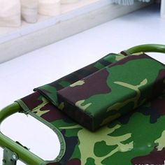 Portátil de acampar al aire libre cama plegable Camuflaje