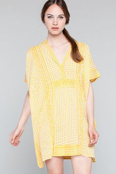 Short Yellow Caftan by Emerson Fry New York
