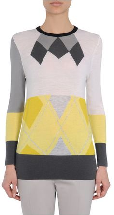 ARCHIVE COLLECTION ARGYLE PATCHWORK SWEATER