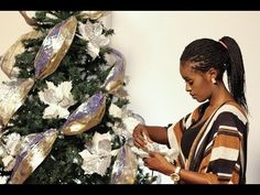 Christmas tree decoration blue, silver & Gold - YouTube