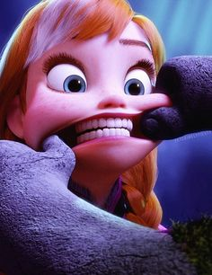 """Oh!  Strong teeth"" *PRINCESS ANNA & A TROLL ~ Frozen, 2013 #dentalhumor  Pediatric Dental Health Associates 