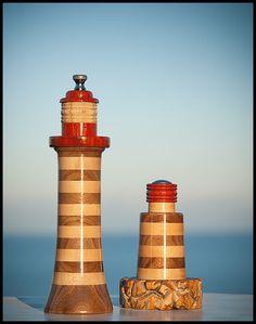 Lighthouse Pepper Mill & Beacon Salt Shaker Combo by BeaconMills, $195.00