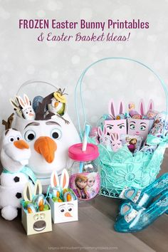 FROZEN Easter Bunny Printables & Easter Basket Ideas!