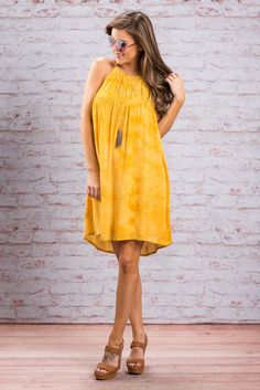 """Sun's Coming Out Dress, Yellow""Who needs the sun when you have this bright dress?! This bright beauty is so perfect for summer! #newarrivals #shopthemint"