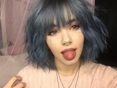 Popular Short Blue Hair Ideas in 2019 - The UnderCut - . - Popular Short Blue Hair Ideas in 2019 – The UnderCut – Popular Short B - Dye My Hair, New Hair, Your Hair, Short Bob Hairstyles, Pretty Hairstyles, Short Haircut, Grunge Hairstyles, Short Undercut, Drawing Hairstyles