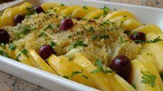 bacalhau com batatas e cebolas