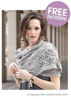 DMC Marquise-Lace Scarf Pattern   Deramores
