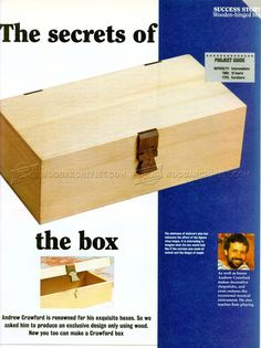 #1827 Wooden Hinged Box Plans - Woodworking Plans