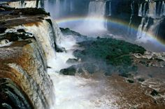 Igazu falls.  I've wanted to go here since 9th grade when I first learned about it.