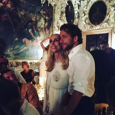 Franca Sozzani with her son, Francesco Carrozzini, at the afterparty hosted by…