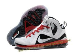 sale retailer 6c083 c780b Nike LeBron 9 P.S. Elite Shoes White Black Red Red Basketball Shoes, Sports  Shoes,