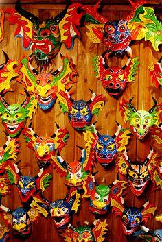 Máscara de los diablos danzantes de Yare (Estado Miranda)...Se utilizan en una festividad religiosa donde la danza consiste en un acto de representación del bien sobre el mal. Declarado Patrimonio de la Humanidad.