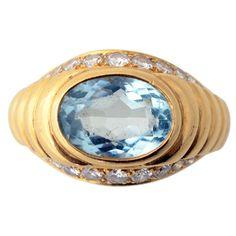 1stdibs - BULGARI Aquamarine and Diamond Ring explore items from 1,700  global dealers at 1stdibs.com