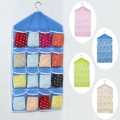 Cheap 16 pockets, Buy Quality storage bag directly from China hanging bag Suppliers: 16 Pockets Foldable Wardrobe Hanging Bags Socks Briefs Organizer Clothing Hanger Closet Shoes Underpants Storage Bag  HG