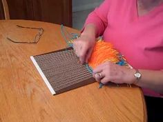 How to create blocks of color using Open Slit Tapestry weave