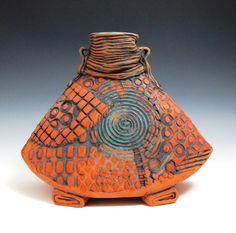 Ritual Vessel, ceramic, oxide, underglaze, liner glaze. METaylor