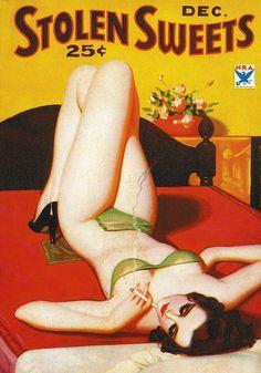 STOLEN SWEETS - Pulp Fiction #Pulp #Art #Vintage