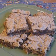 Chocolate Chip Cookie Squares @ http://allrecipes.co.uk