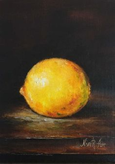 All Rights Reserved. Copyright of Nina R.Aide 2011-2017 Give the gift that lasts a lifetime. A Gift to yourself, or someone you love! Still Life Lemon is my Original Oil Painting painted in traditional classic chiaroscuro style from the collection Painting like old masters. The painting is painted on archival quality linen panel 7 x 5 x 1/8 with professional artist grade oil paints. one of a kind, not a reproduction. The painting is signed on the front, stamped and signed on the back...