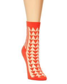 Triangle Sheer Socks