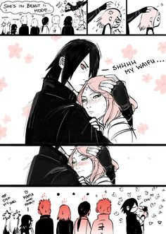 Basically this how this mini series about Sarada and Sasuke is xD Sasuke, Sakura and Sarada Uchiha