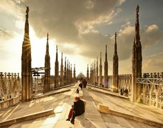 Milano Duomo Cathedral Roof - Milan, Italy One of the most amazing experiences in Milan. Totally worth going on top of it
