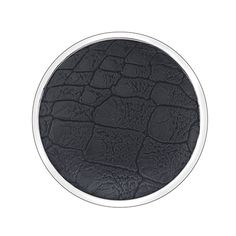 EMOZIONI Jewelry 33mm Faux Black Crocodile Coin