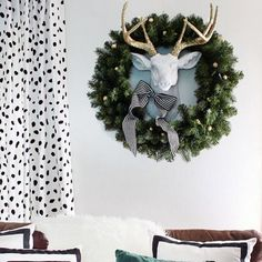 The Winston deer head is the perfect transitional piece from summer to fall to winter and spring!