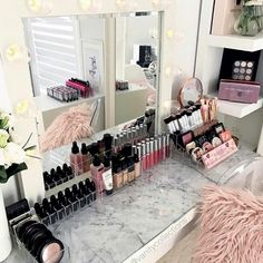 CLICK FOR NEW Makeup And ALL Things Beauty In Beauty Room Tips, Tutorials And The Resources To #GLAM Your #BeautyRoom & Grow Your #Makeup Collection. Think And Grow Positive. Exceed Your Goals And Transform Your Space & Your Home Into One That Ignites Your Creativity To DREAM BIG! Access What's HOT In #GLAM #HomeDecor And How To Organizee Your Entire #MakeupCollection. This Is Great For The #MUA And Those Who Love ALL THINGS BEAUTY To Organize Their #Makeup And #MakeupVanity