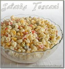 Toscani Salad (recipe by clicking on the picture) Polish Recipes, New Recipes, Salad Recipes, Vegetarian Recipes, Cooking Recipes, Recipies, Emergency Food, Frugal Meals, Healthy Cooking