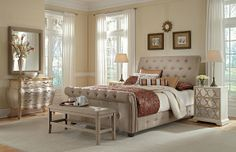 Maison Sand Bedroom Collection - Value City Furniture-Queen Bed $699.00