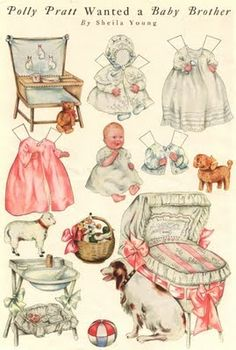 "DOLL FROM PAPER: ""POLLY PRATT WANTED A BABY"" VINTAGE PAPER DOLL"